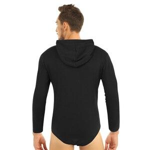 Image 5 - Mannen Een Stuk Lange Mouwen Druk Kruis Hoodie Bodysuit Romper Pyjama
