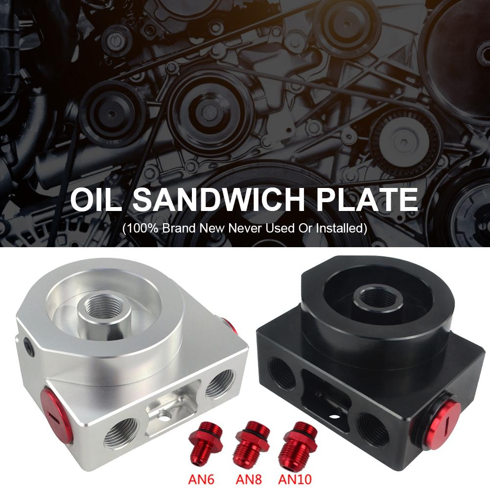 LZONE-filtre à huile Sandwich adaptateur avec filtre à huile bloc à distance avec Thermostat 1xAN8 4xAN6/AN8/AN10 JR5675