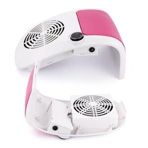 Image 2 - 60W Nail Stofafzuiging Sterke Verstelbare Snelheid Collector Voor Nail Dust Fan Stofzuiger Voor Manicure Tool Vacuüm Nail zuig