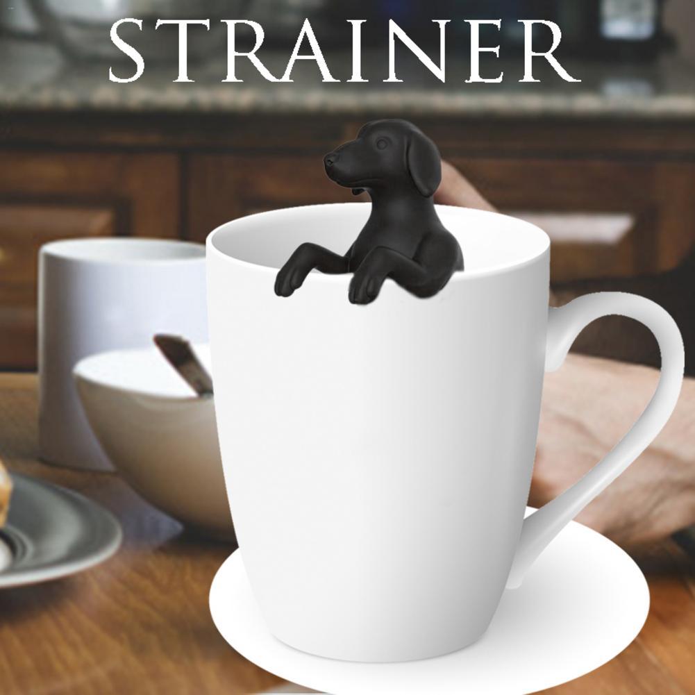 תה מסננת חם כלב תה סיליקון תחש כלב תה דליפת קל לפרק קל נקי
