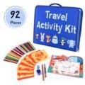 92 pçs crianças conjunto de desenho lápis coloridos pintura estênceis criativo brinquedos educativos suprimentos de arte diy presente viagem atividade kit