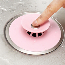 Deodorant Floor-Drain-Plug WATER-KITCHEN-FILTER Bathroom Silicone 2PCS Stop-Net Press-Type