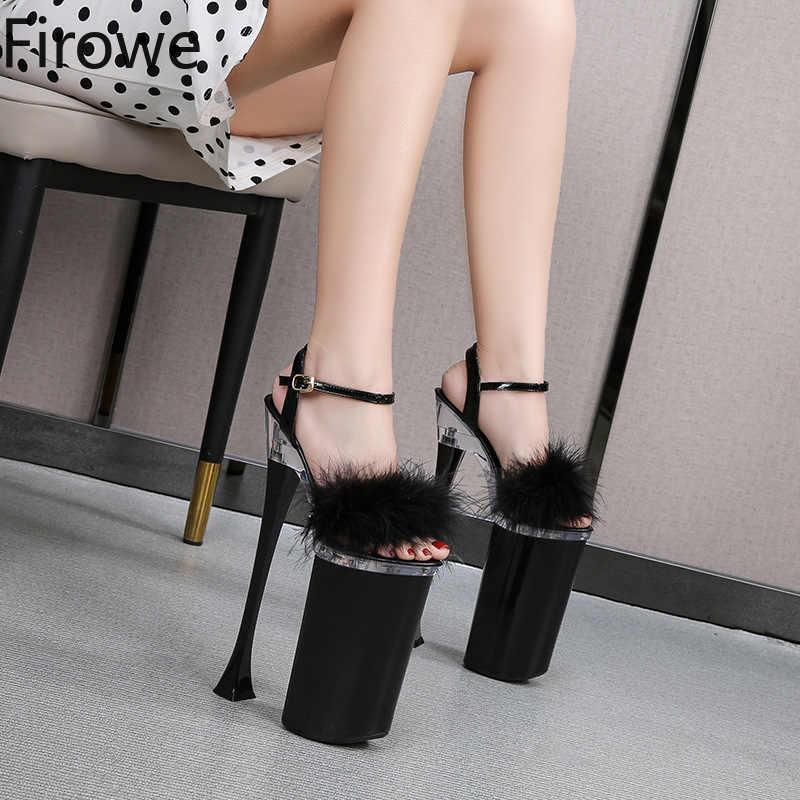 Femmes Pvc Plateforme Gladiateur Sandales Bride Cheville Talons Hauts Stiletto Chaussures Montantes