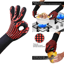 Oven-Gloves Dish Barbecue Heat-Resistant Mittens Bbq-Grill Baking Kitchen Thick Silicone