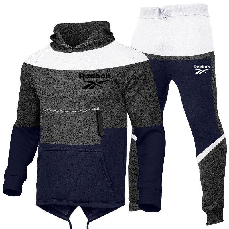 2021 europäischen und Amerikanischen nähen frühjahr, herbst und winter männer lange ärmeln kapuzen mode herren sport casual anzug
