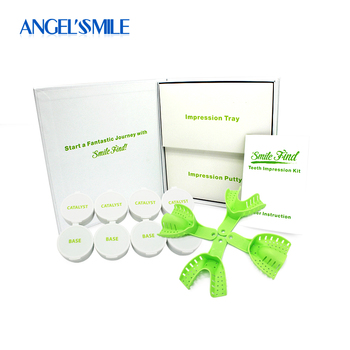 Silicone Teeth Whitening Impression Kit Custom Teeth Bleaching Tray Dental Retainer Impression Putty delian dental bonding ultra fast tray adhesive with brush bottle impression material dental silicone product