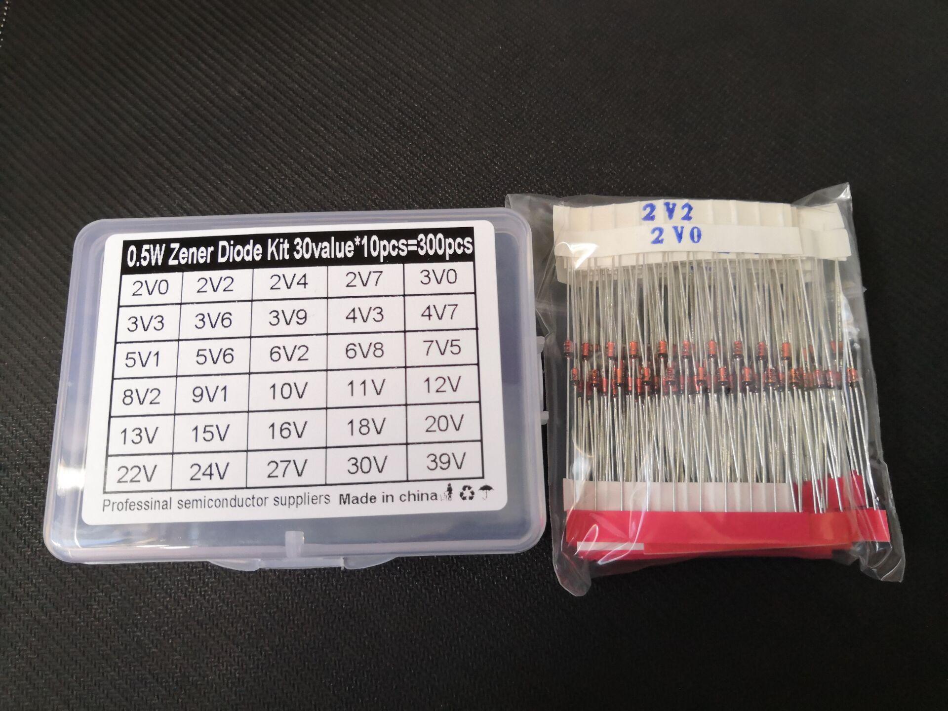 Voltage-Regulator 2v--39v-Diode-Kit Zener 30V 13V 300PCS 27V 24V 16V 22V 15V 20V 18V