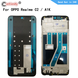 Middle Frame For OPPO Realme C2 Middle Frame Housing Cover Bezel Plate Faceplate Replacement Frame For OPPO RMX1941 A1K
