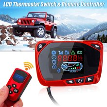 LCD Display 12/24V Monitor Thermostat Switch Timer Remote Control For Diesel Air Heater Boat Bus Trailer Car Heater Accessories(China)