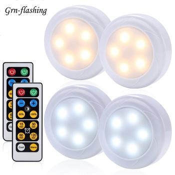 Możliwość przyciemniania 10 światła podszawkowe LED Touch Sensor ciepły + biały pilot do lampa wewnętrzna zamknij szafę kuchnia światło nocne do toalety tanie i dobre opinie GRN-FLASHING 50000h 3s-CGD-kzq-221892 Suche baterii Przełącznik 3*AAA Batteries (not included) press remote white Warm White+White(Double color)