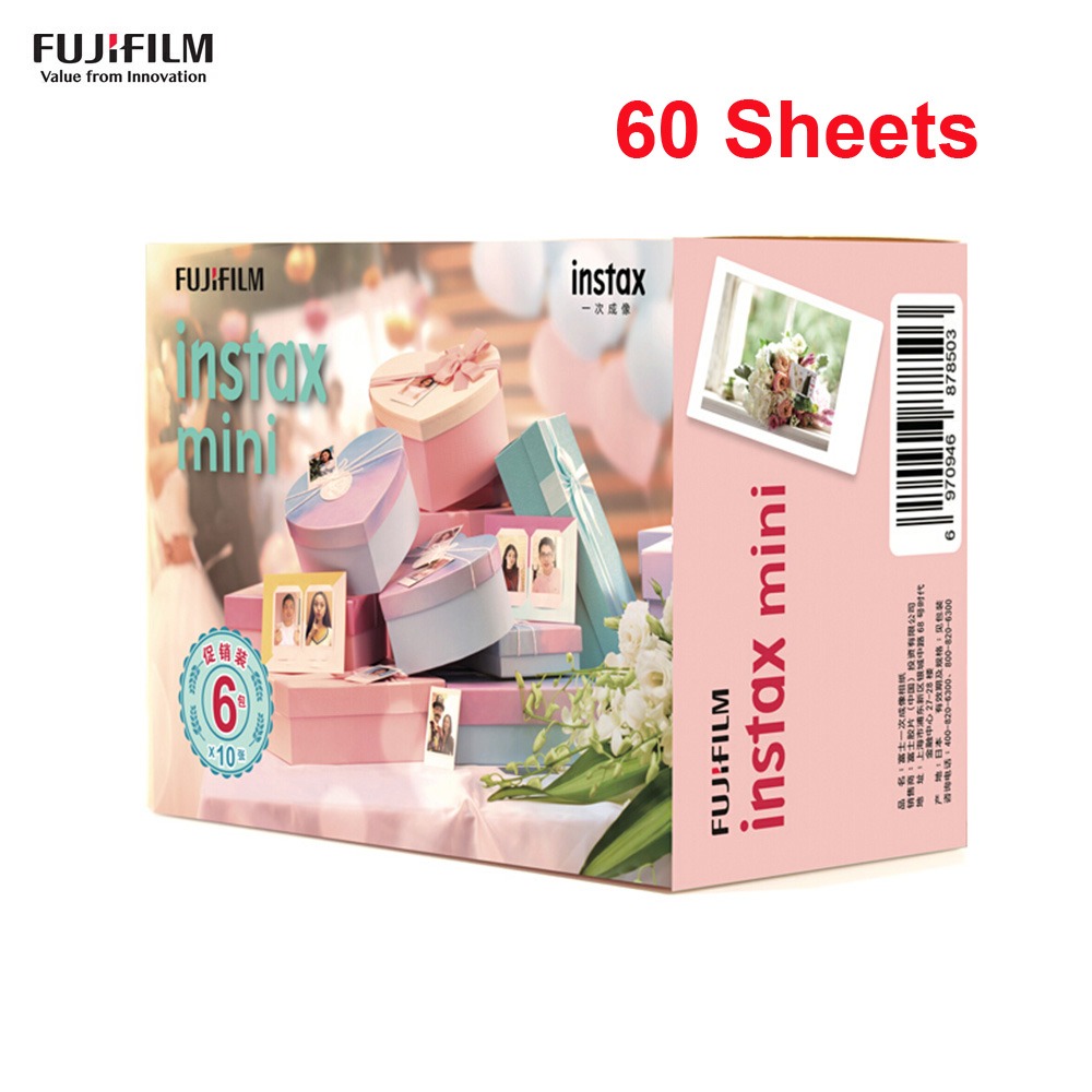 Fujifilm 10-60 Sheets for Instax Mini Camera Instant Film Photo Paper for Instax Mini 9/8/7s/25/50s/70/90 for SP-1/2 Smartphone image