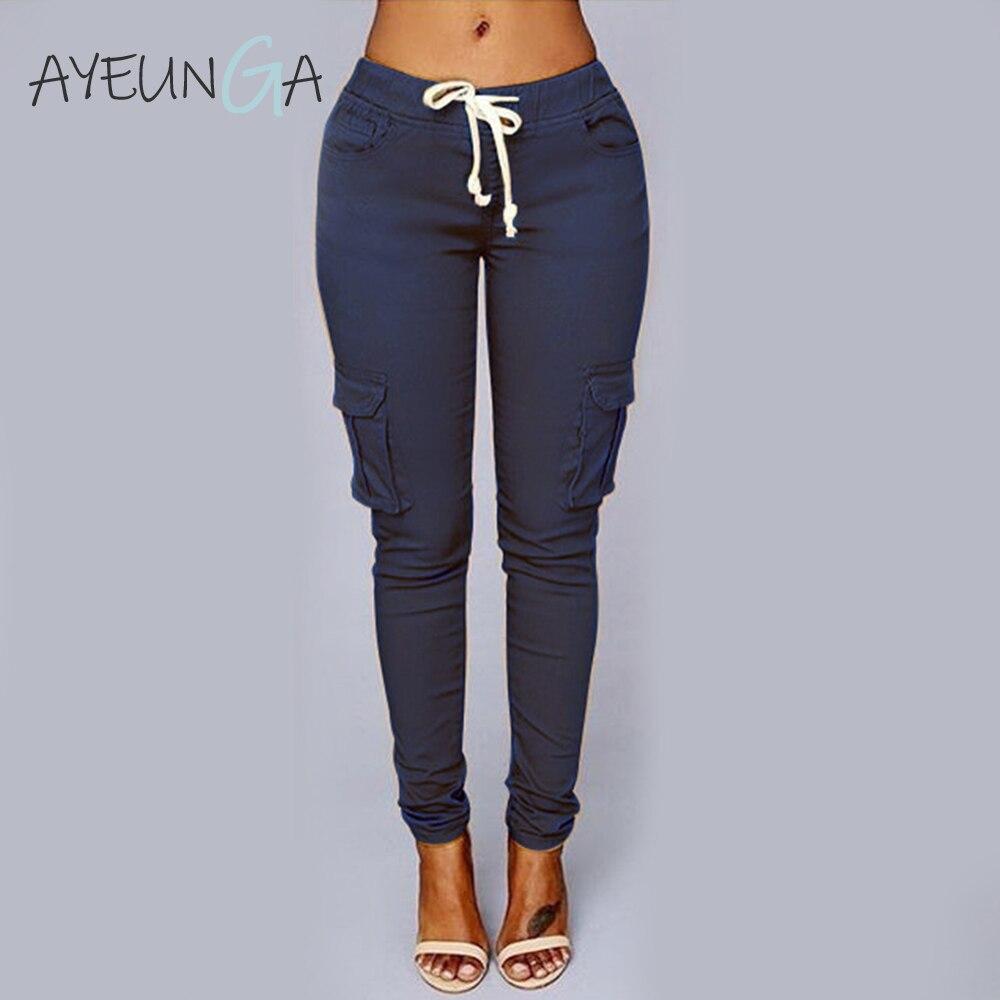 High Waist Women's Trousers Casual Black Long Streetwear Pantalones De Mujer Pockets Sashes Office Ladies Sweatpants For Women