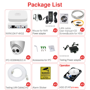 Image 5 - Dahua 4MP 4+2/4 Security Camera System 6MP IP Camera IPC HDW4631C A 8CH POE NVR4104 P 4KS2 Surveillance P2P System Remote View