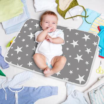 Pokrowiec na pieluchy dla niemowląt przewijak zmywalny wodoodporny noworodek przenośny pojemnik na mocz dla dzieci w gospodarstwie domowym tanie i dobre opinie JOCESTYLE Unisex CN (pochodzenie) 3-6y Baby Nappy Urine Mat