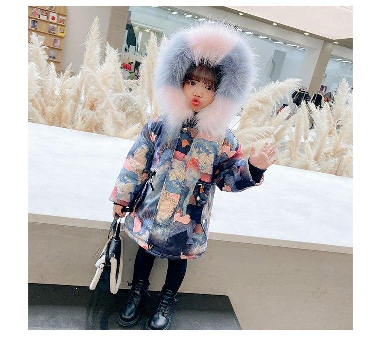 Casaco de inverno infantil de luxo com
