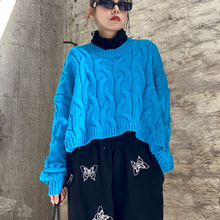 Женский короткий свитер xuxi Свободный пуловер с длинными рукавами