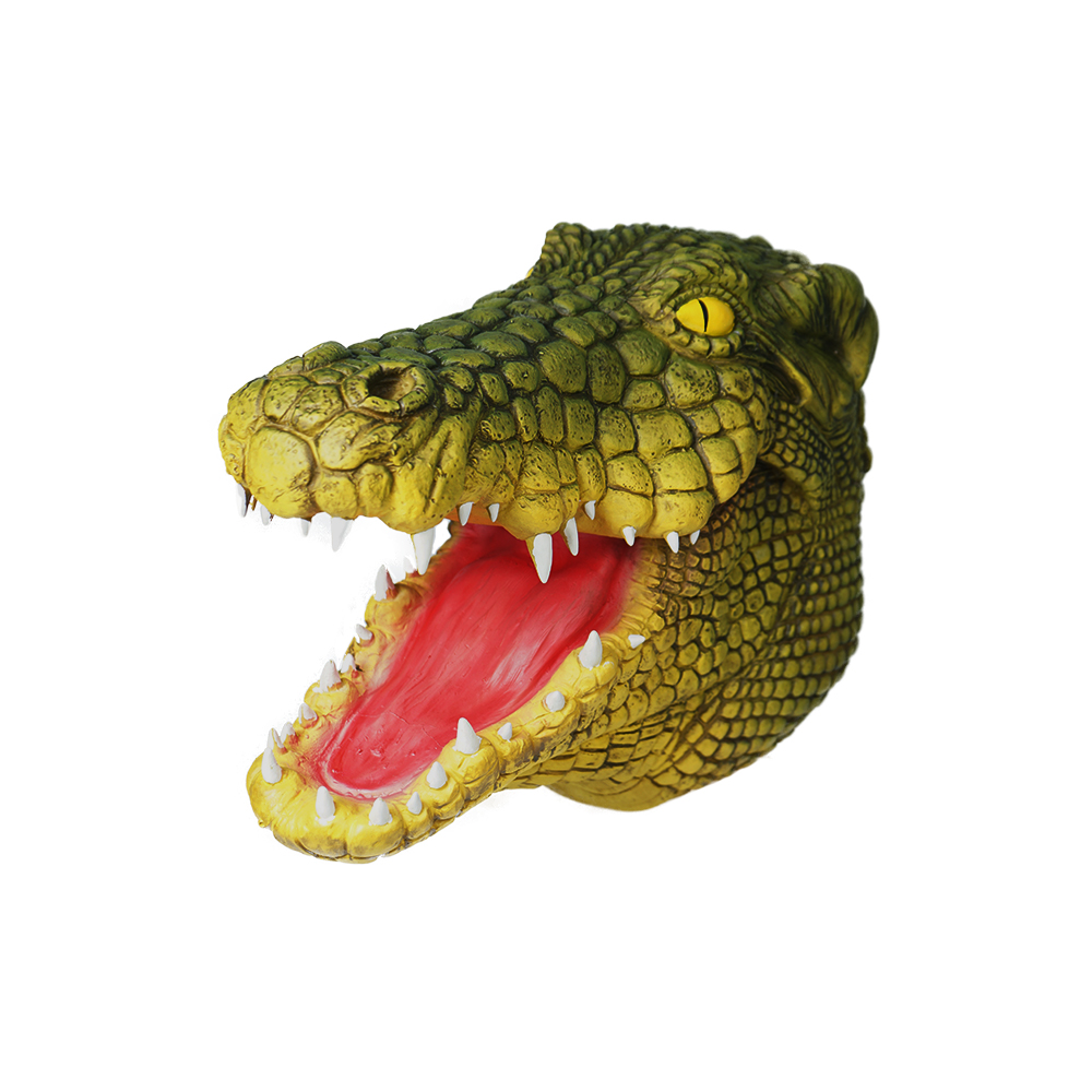Eraspooky Realistic Crocodile Cosplay Latex Mask Halloween Costume Props For Adult Festival Party Animal Headgear