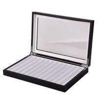 12 단일 레이어 펜 상자 베이킹 페인트 펜 스토리지 박스 디스플레이 박스 편지지 펜 컬렉션 나무 상자