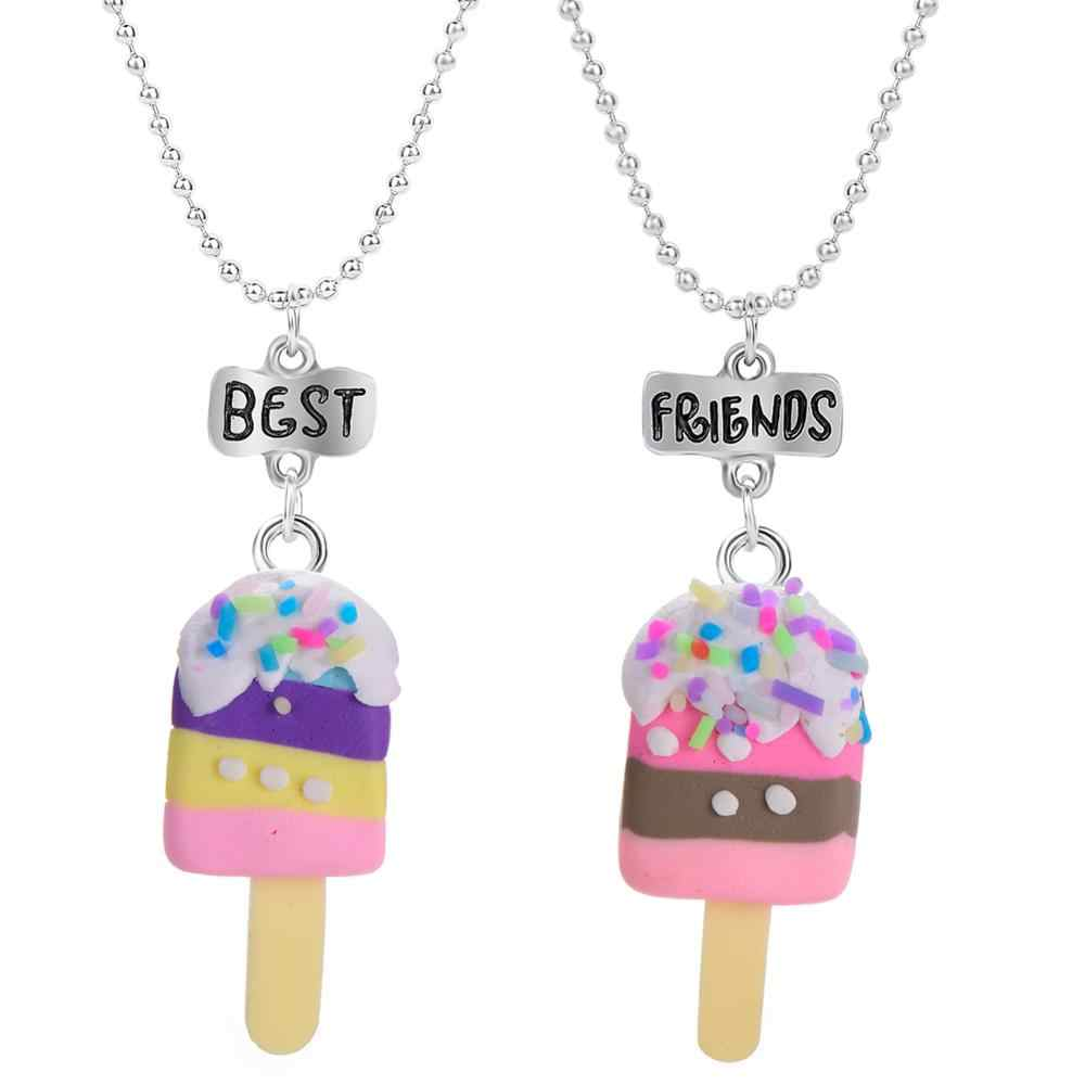3 Styles  Best Friend Colored Candy Popsicle Necklaces Pendant For Children/Kids Love Jewelry Necklace Gifts