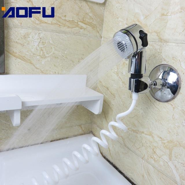 Фото душевая насадка для смесителя ванная комната спрей сливы шланг цена