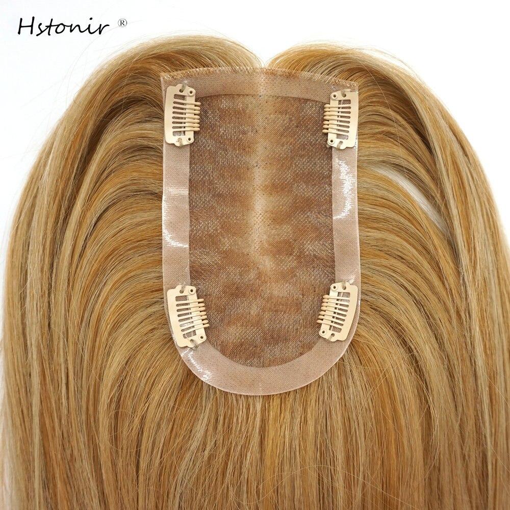 Hstonir Wig Topper Toupee Hair For Women Mono Lace Toupi Hairtopper Toupet Cheveux Humain Pour Femmes European Remy Hair TP29