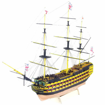 51.5 x 17.5 x 33.5cm 1:200 HMS VICTORY 1765 British Warship Assembly DIY Wooden Model Boat Ship Kit For Home Office Decor wenhsin assembling model warship 1 700 u s a warship navy new york battleship bb34 warship 06711