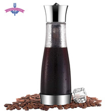 קפה מוקה קר לחלוט Cafetera מסנן קפה סיר Leakproof עבה זכוכית תה Infuser פרקולטור כלי אספרסו יצרניתקנקני קפה