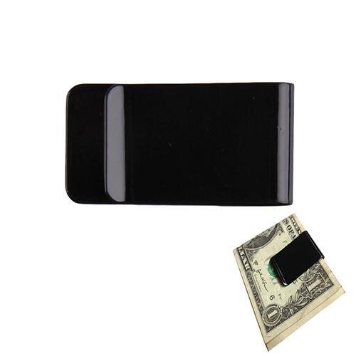 Metal de aço inoxidável dinheiro clipes pasta listra impressão prata dinheiro braçadeira titular carteira fino cartão id dinheiro clipes