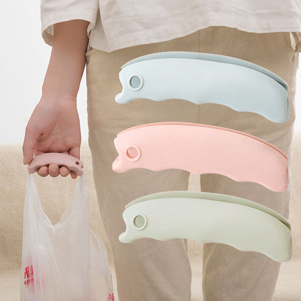 1PC Silicone Shopping Bag Clips Handle Carrier Mention Dish for Shopping Bag Carry Handle Clips Kitchen Organizer Accessories
