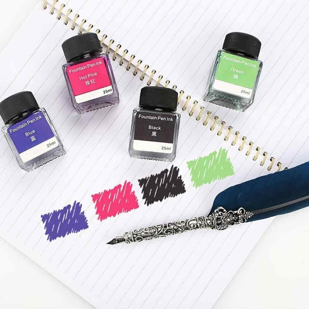 Pluma estilográfica de tinta A5A3 sin carbono, bolígrafo de 25ml, bolígrafos de papelería, pluma, tinta, botella de tinta de impresora química