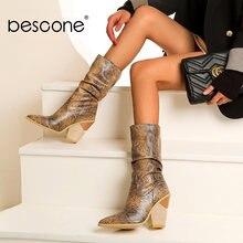 Bescone/Женская обувь; Модные женские ботинки ручной работы