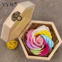 Wedding Regalos Souvenirs Valentines Gift Color Soap Rose Box Wood Gifts For Guests Party Favors Girlfriend Lover