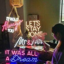 Waterproof  Led Neon Sign Custom Pink Light 12V Home Room Party Bar Wedding Decoration for room