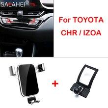 Mobil telefon tutucu Toyota CHR için 2017 2018 2019 2020 hava firar montaj braketi GPS telefon tutucu klip standı araba aksesuarları