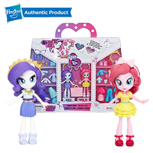 Hasbro 4-Inch My Little Pony Equestria Girls Fashion Squad Rarity and Pinkie Pie Mini Doll Set with 40+ Accessories