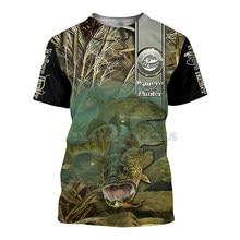 2021 New Summer Hot Style T-Shirt Fishing Asian Carp Pattern Men's 3DT Shirt Polyester Breathable Undershirt O-Neck Harajuku 6XL
