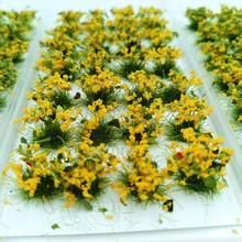 Ramo de flores de una hoja, cañas de hierba, modelo de paisaje, flores estáticas de ferrocarril, juego de guerra PJ05