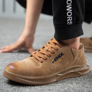 Image 5 - 38~45 men safety shoes Anti smashing Wilderness Survival steel toe Anti slip men work boots #KDDK601