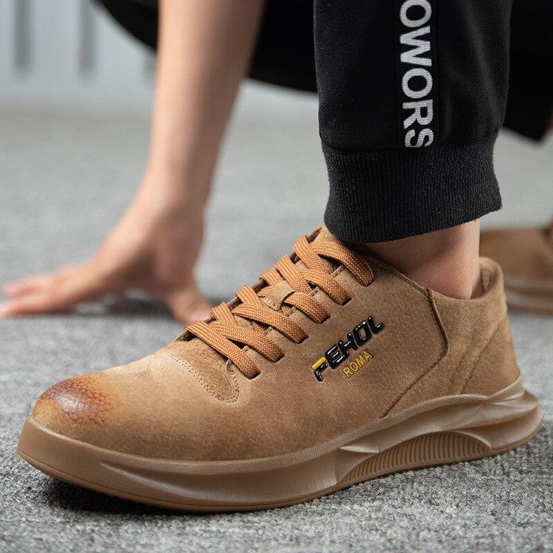 Image 5 - 38 45 мужская защитная обувь, противоскользящие мужские рабочие ботинки для выживания в пустыне со стальным носком # KDDK601Защитная обувь   -