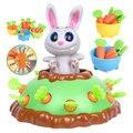 Rettich Interaktive Spiel ABS Kunststoff Tisch Spiel Pull-Up Karotte Spielzeug Stoßstange Kaninchen Lustige Spielzeug Für Kinder Pädagogisches Spielzeug