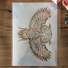 Layering Stencils Painting Elephant Embossing-Album-Decorative-Template Scrapbook-Coloring