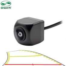 HD 170 زاوية عدسة عين السمكة مسار ديناميكية وقوف السيارات خط سيارة الرؤية الخلفية عكس كاميرا احتياطية للمركبة شاشة للمساعدة في ركن السيارة بسهولة