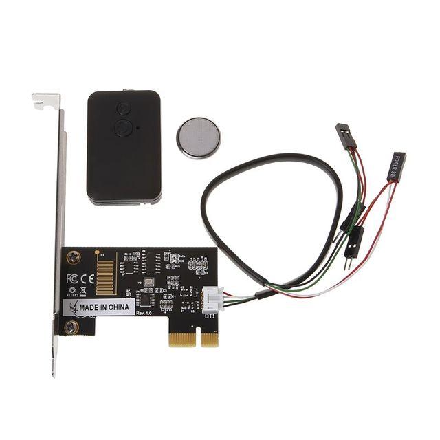 PCI E Desktop PC Fernbedienung 20m Wireless Neu Starten Schalter Drehen Auf Off