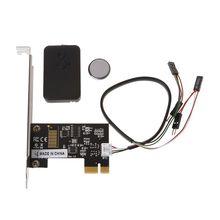 PCI E pulpit pc pilot 20m bezprzewodowy przełącznik restartu włącz wyłącz