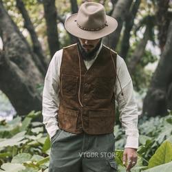 Bronson Outdoor Cord Jagd Weste 1940s Vintage Inspiriert Männer Feld Weste