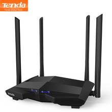 Tenda AC10 1200Mbps Wireless Router WiFi 1GHz CPU 1WAN + 3LAN Gigabit puertos antenas montadas en la pared 4 * 6dbi, gestión inteligente de aplicaciones(China)