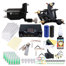 Top Free Ship Complete Tattoo Kit Rotary  Machine Coils  Hot Sales Dragonhawk Power Supply Colors USA Ink Set