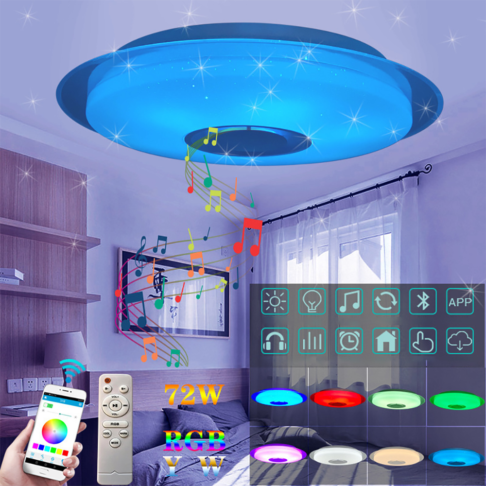 1PC Smart Led Ceiling Light RGB Dimmable 36W 40W APP Control Bluetooth & Music Modern Led Ceiling Lamp Living Room Bedroom 220v