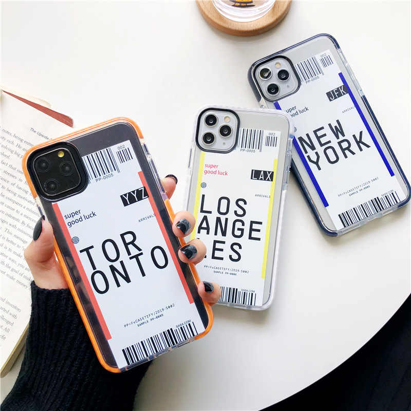 Silicone Case For Iphone 11 Pro Case Boarding Check Original For Iphone X XR Xs Max Cover Iphone 7 8 Plus Shockproof Case