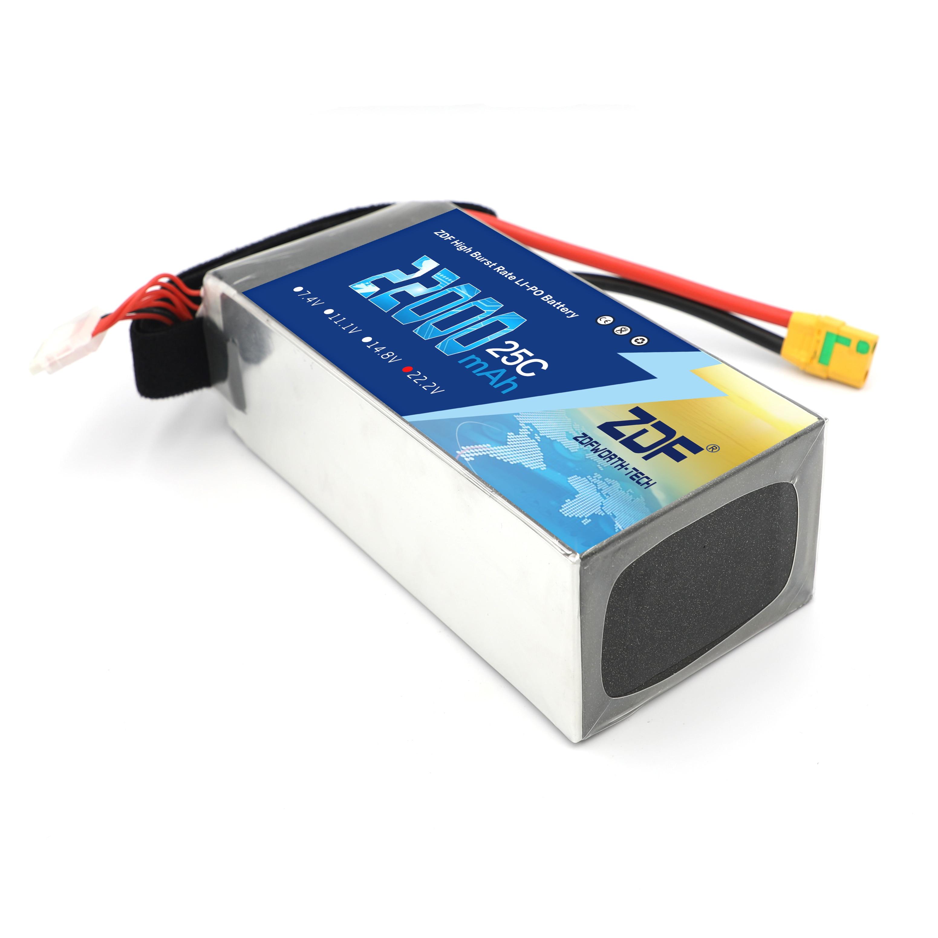ZDF 22.2V 22000mah 6S 22ah 25C Li polymeer batterij hoge rate 25C voor Multi axis voertuig Model vliegtuigen plant bescherming mach-in Onderdelen & accessoires van Speelgoed & Hobbies op  Groep 2